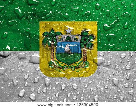 State of Rio Grande do Norte flag with rain drops