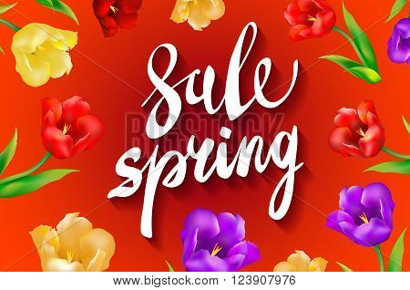 Spring Sale, Amazing Offers Message On A Red Background