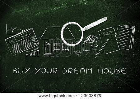 House, Real Estate Data And Contract, Buy Your Dream House