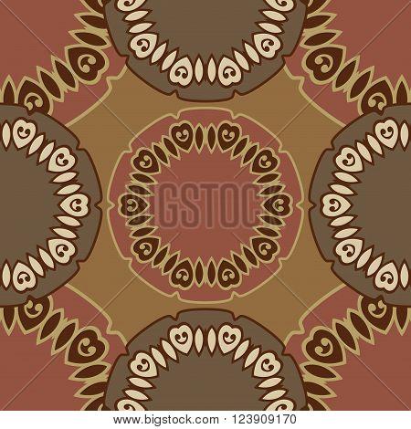 Seamless pattern boho chic. A series of universal patterns.