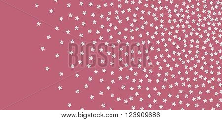 Sakura Japanese Cherry seamless vector pattern. Use for textiles interior decoration web page background wrapping paper cosmetics labeling. Inspired by traditional Japanese textiles. Editable