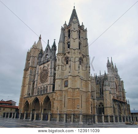 Gothic Cathedral In Leon
