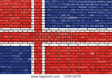 flag of Gori painted on brick wall