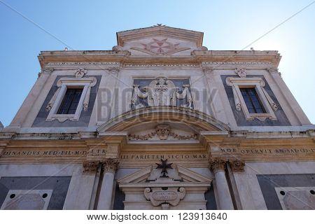 PISA, ITALY - JUNE 06, 2015: PISA, ITALY - JUNE 06, 2015: Santo Stefano dei Cavalieri or Church of Saint Stephen the Knight, in Pisa, Italy on June 06, 2015