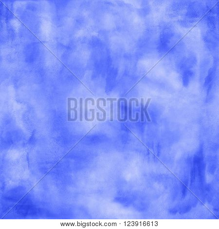 Abstract boho blue watercolor squared blurred background