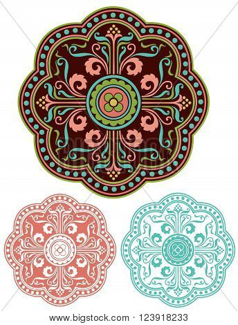 Middle Eastern design element with variations  Mediterranean Ornament