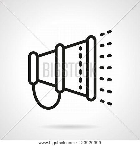 Loudspeaker or megaphone. Voice amplifier equipment. Promotion and announcement. Digital marketing. Simple black line vector icon. Single element for web design, mobile app.
