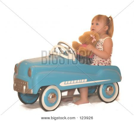 Pedal Car With Bear 4021