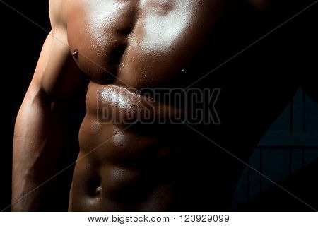 Athletic Male Awesome Spotring Torso