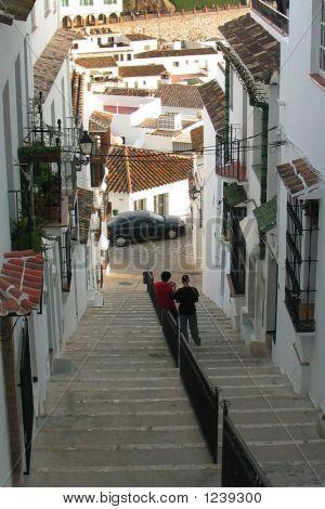 Escena del pueblo español