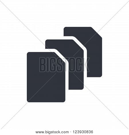 File Icon In Vector Format. Premium Quality File Icon. Web Graphic File Icon Sign On Red Background.