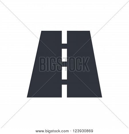 Road Icon In Vector Format. Premium Quality Road Icon. Web Graphic Road Icon Sign On Red Background.