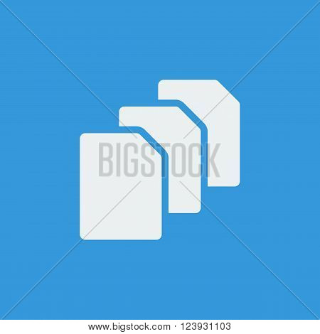 File Icon In Vector Format. Premium Quality File Icon. Web Graphic File Icon Sign On Blue Background