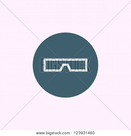 3D Glass Icon In Vector Format. Premium Quality 3D Glass Icon. Web Graphic 3D Glass Icon Sign On Blu