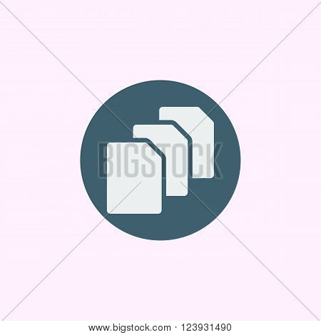 File Icon In Vector Format. Premium Quality File Icon. Web Graphic File Icon Sign On Blue Circle Bac