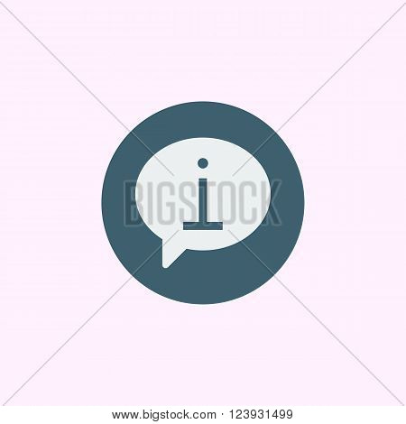 Info Icon In Vector Format. Premium Quality Info Icon. Web Graphic Info Icon Sign On Blue Circle Bac