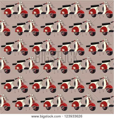 vintage motorbike pattern seamless vector background, vector texture