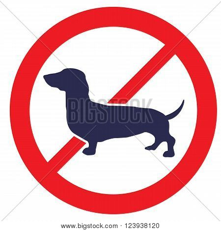 No Dogs allowed sign. Stock vector template, easy to use.