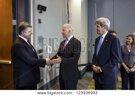 Joe Biden And Petro Poroshenko