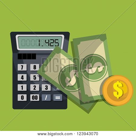 calculating costs design, vector illustration eps10 graphic