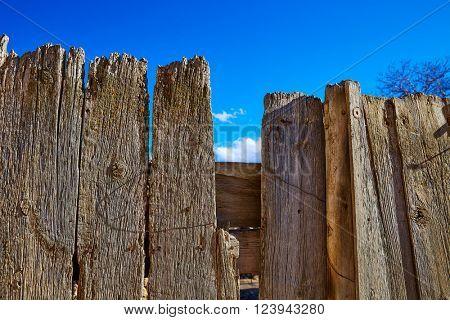 Aged wood fence in Sierra de Albarracin Teruel Spain