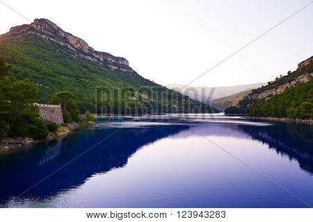Ulldecona reservoir dam in Castellon of Spain
