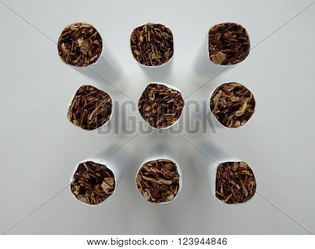 Cigarettes and tobacco products.