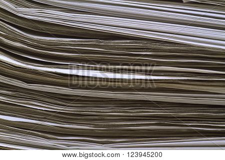 Image of a stack of newspaper. Shot in Studio