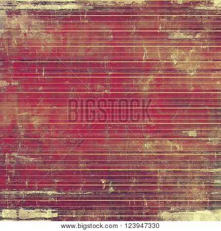 Old grunge background or aged shabby texture with different color patterns: yellow (beige); brown; red (orange); purple (violet); pink