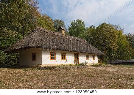 Kiev, Ukraine - October 06, 2015: Old house of peasants in the museum Pirogovo