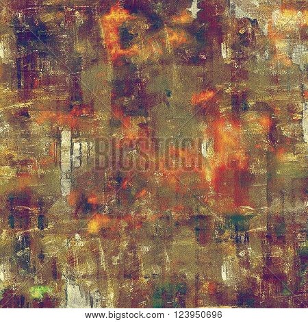 Abstract colorful background or backdrop with grunge texture and different color patterns: yellow (beige); brown; green; red (orange); purple (violet)