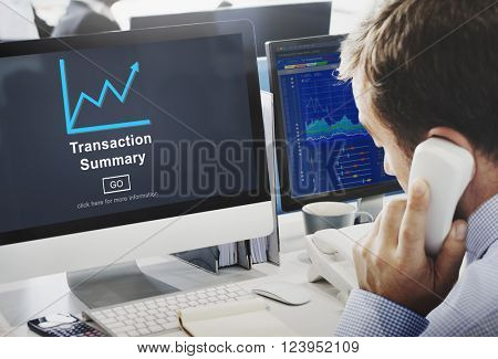 Transaction Summary Budget Balance Account Concept