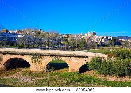 Ribarroja del Turia village and bridge in Valencia Spain