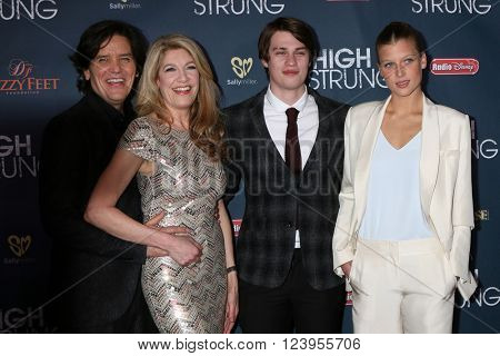 LOS ANGELES - MAR 29:  Michael Damian, Janeen Damian, Nicholas Galitzine, Keenan Kampa at the High Strung premiere at the TCL Chinese 6 Theaters on March 29, 2016 in Los Angeles, CA