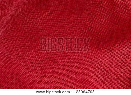Fabric Texture Close Up of Red Fabric Texture Pattern Background.