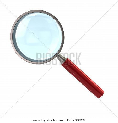 Magnifying Glass With Red Handle