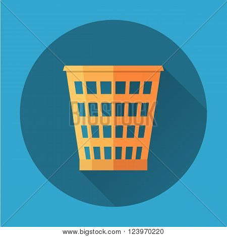 Trash Recycle Bin Garbage Flat icon . Vector illustration