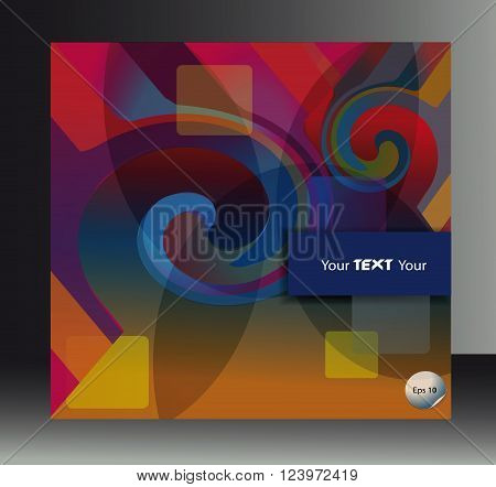 cover booklet abstract motley spiral shape background