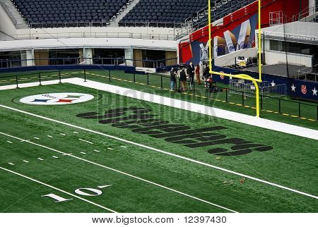 Cowboys Stadium End Zone Interview
