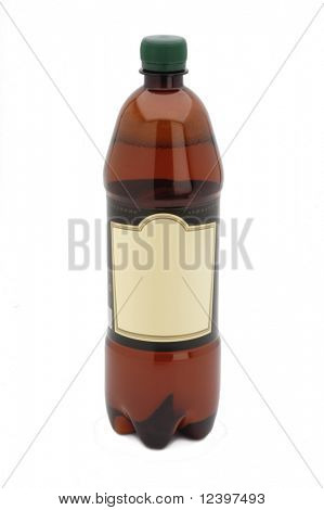 bottle of water or beer  with label leaved blank