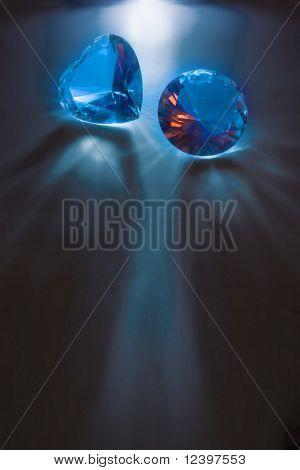 two big diamonds on dark background