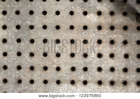 Metallic Shield With Holes