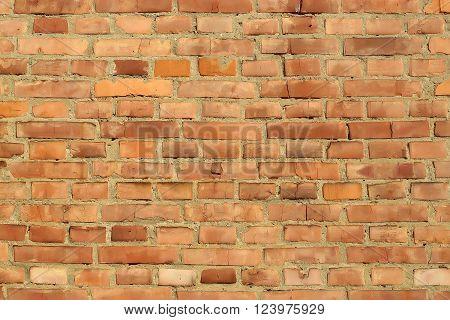 Rectangular Red Clay Brick Wall