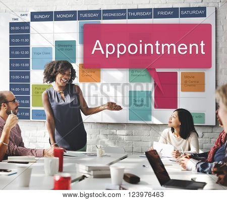 Appointment Schedule Meeting Plan Arrangement Concept