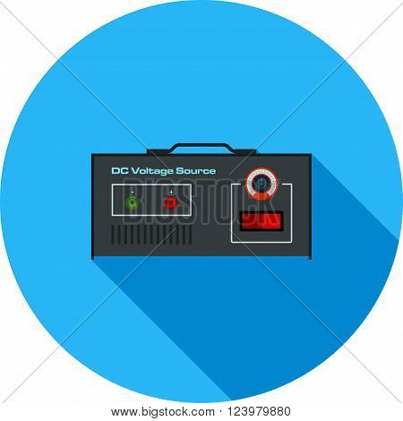Battery, volt, DC icon vector image. Can also be used for electric circuits. Suitable for use on web apps, mobile apps and print media.