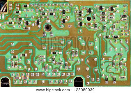 Integrated Circuit,chip, Cir,green Pcb Close-up Shot