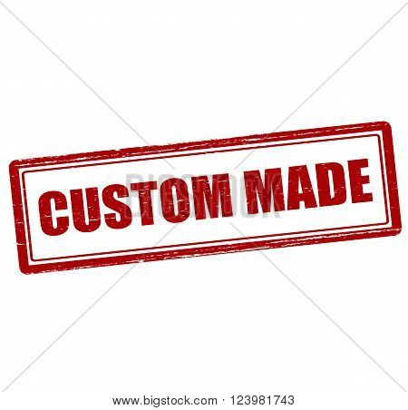 Rubber stamp with text customer made inside vector illustration`