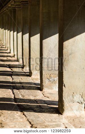 Angkor Wat Stone Pillars