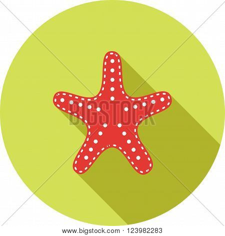 Starfish, summer, nature icon vector image. Can also be used for sea. Suitable for use on web apps, mobile apps and print media.