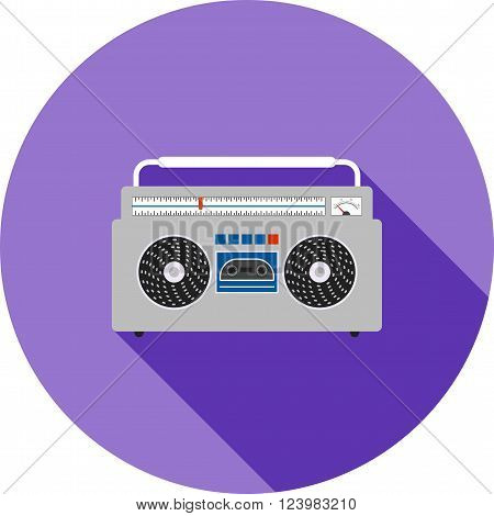 Music, casette, sound icon vector image. Can also be used for hipster. Suitable for web apps, mobile apps and print media.